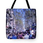 Las Ramblas - Barcelona Spain Tote Bag