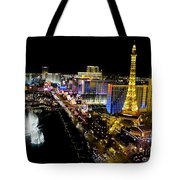 City - Las Vegas Nightlife Tote Bag