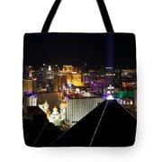 Las Vegas Night Pano Tote Bag