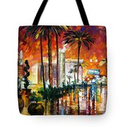 Las Vegas - Palette Knife Oil Painting On Canvas By Leonid Afremov Tote Bag