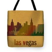 Las Vegas Skyline Watercolor On Parchment Tote Bag
