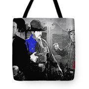 Lash Larue And Charles King Law Of The Lash Publicity Photo 1947 Tote Bag