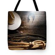 Lasso In Old Barn Tote Bag