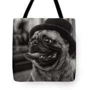 Last Call Pug Greeting Card Tote Bag