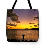 Last Cast Of The Day Tote Bag
