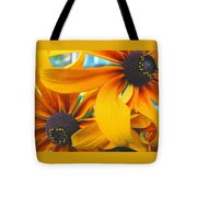 Last Holdouts Of The Season - Black Eyed Susans - Floral Photography Tote Bag