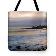 Last Light At Pigeon Point Lighthouse Tote Bag