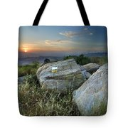 Last Light At The Windy Mountains Tote Bag