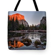 Last Light At Valley View Tote Bag