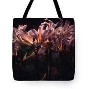 Last Light Lillies Tote Bag