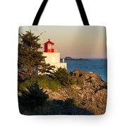 Last Light On Amphritite Lighthouse Tote Bag