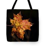 Last Maple Leaf Tote Bag