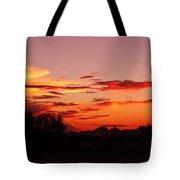 Last Night's Sunset Tote Bag