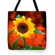 Last Sunflower Horizontal Tote Bag