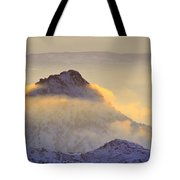 Last Sunset Light In The Clouds Tote Bag