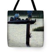 Late Afternoon At Lake Seminole Ga Bass Fishing Tote Bag