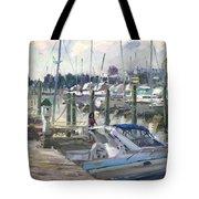 Late Afternoon In Virginia Harbor Tote Bag