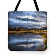 Late Afternoon On The Tuolumne River Tote Bag