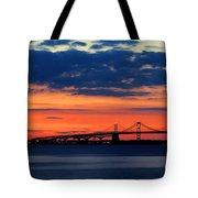 Late Evening Chesapeake Sunset Tote Bag