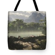 Late Jurassic East Africa With A Host Tote Bag