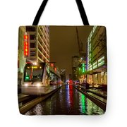 Late Night Ride On The Metrorail Tote Bag