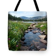 Late Summer Mountain Landscape Tote Bag