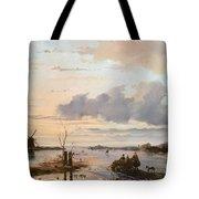 Late Winter In Holland Tote Bag by Nicholas Jan Roosenboom
