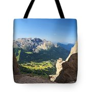 Latemar Mount From Vaiolon Pass Tote Bag