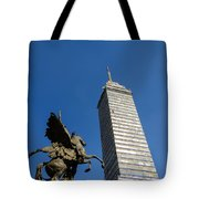 Latin American Tower And Statue Tote Bag