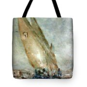 Latini Boat Entering Grand Harbour Valletta  Tote Bag by Marco Macelli