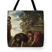 Latona Changing The Lycian Peasants Into Frogs Tote Bag
