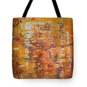 Lattice Animals Abstract Oil Painting By Regina Valluzzi Tote Bag