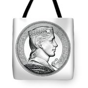Latvia Crown Tote Bag by Fred Larucci