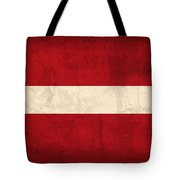 Latvia Flag Vintage Distressed Finish Tote Bag