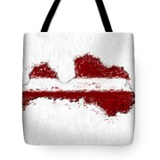 Latvia Painted Flag Map Tote Bag