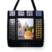 Laughing Gnome In Venice Tote Bag
