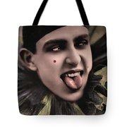 Laughing Pierrot Clown Vintage Art Tote Bag