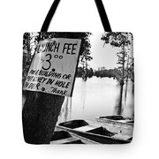 Launch Fee -bw Tote Bag