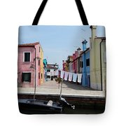 Laundry Day In Burano Tote Bag