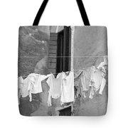 Laundry I Black And White Venice Italy Tote Bag