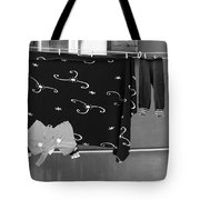 Laundry Vii Black And White Venice Italy Tote Bag