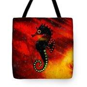 Lava Loving Seahorse Tote Bag