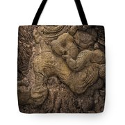 Lava Mother With Child On Galapagos Islands Tote Bag