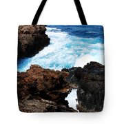 Lava Rock On Aruban Coast Tote Bag