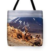 Lava Sculptures And Volcanoe Mount Ngauruhoe Nz Tote Bag