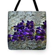 Lavender On White Stone Tote Bag