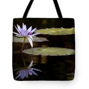 Lavendar Reflections In The Lake Tote Bag