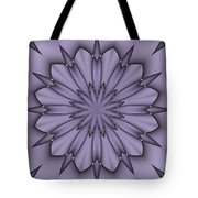 Lavender Abstract Flower Tote Bag