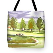 Lavender And Green Tote Bag