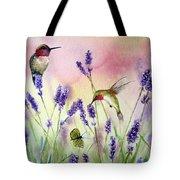 Lavender And Hummingbirds Tote Bag